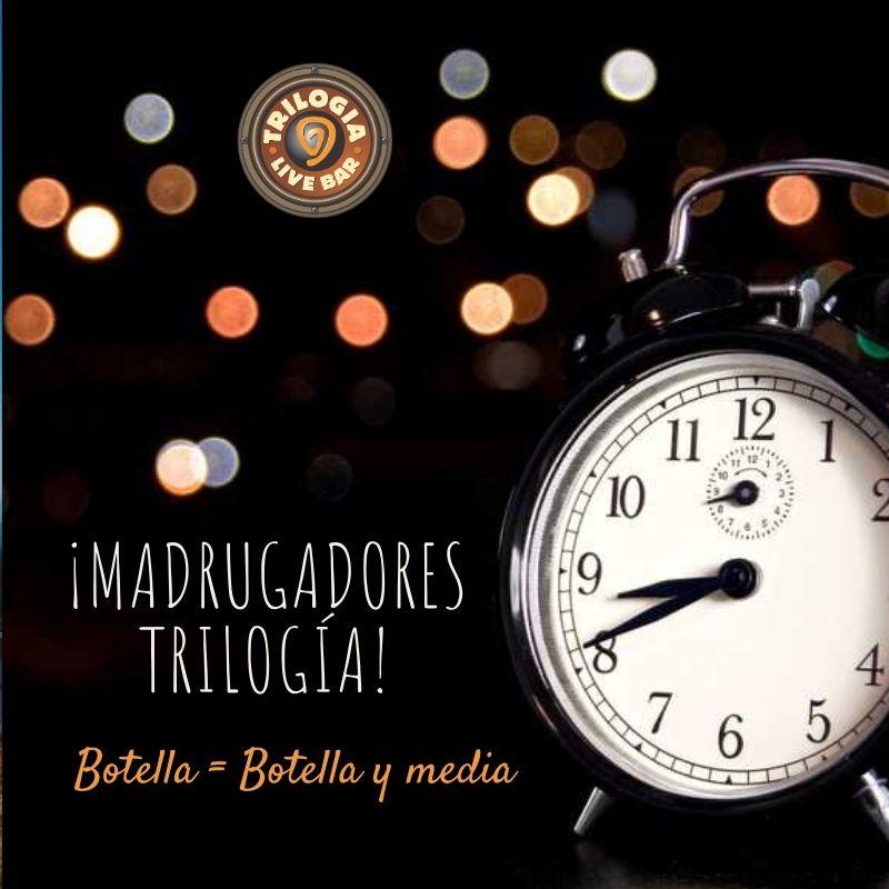 Promoción Madrugadores Trilogía Bar